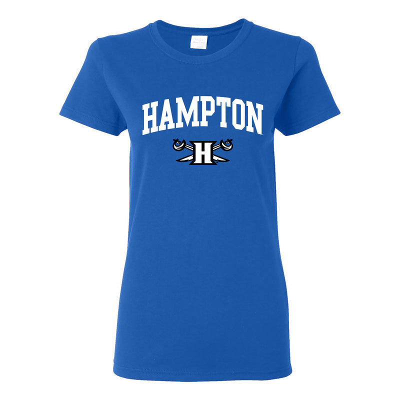 Hampton Arch Logo Womens T Shirt - Royal