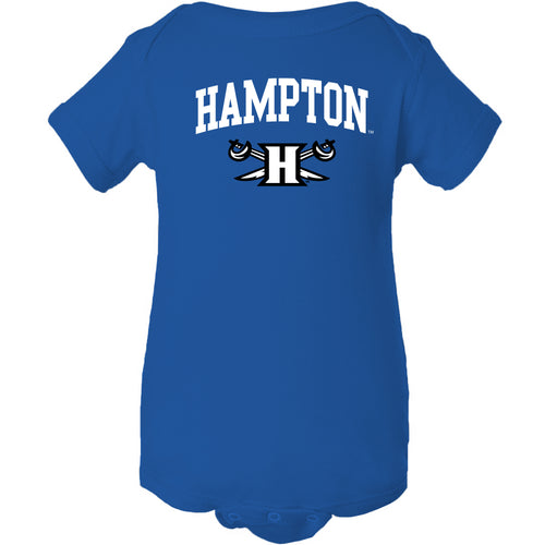 Hampton University Pirates Arch Logo Creeper - Royal
