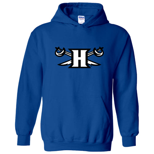 Hampton University Pirates Primary Logo Heavy Blend Hoodie - Royal
