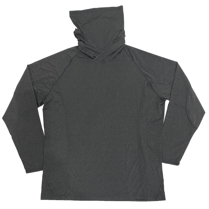 UGP Hoodie Mask Adult Longsleeve Performance Shirt - Grey
