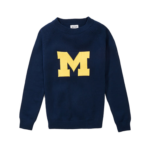 UM Hillflint School Sweater - Navy