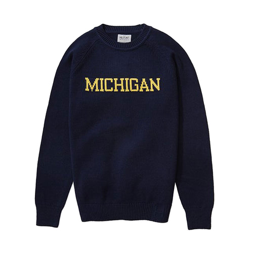University of Michigan Hillflint School Sweater - Navy