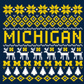 Michigan Ugly Sweater Tee - Navy