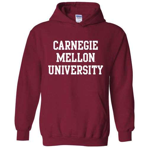 Carnegie Mellon University Tartans Basic Block Hoodie - Cardinal Red