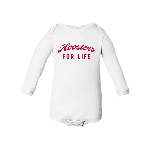 Indiana University Hoosiers For Life Infant Creeper- White