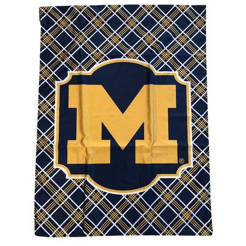 Block M University of Michigan House Flag – Plaid