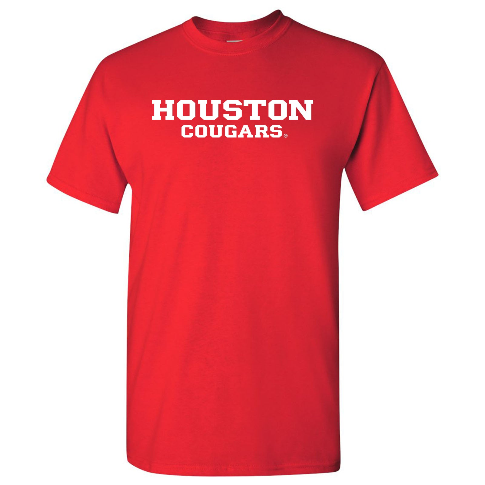 Houston Cougars Basic Block T Shirt Red Underground Printing