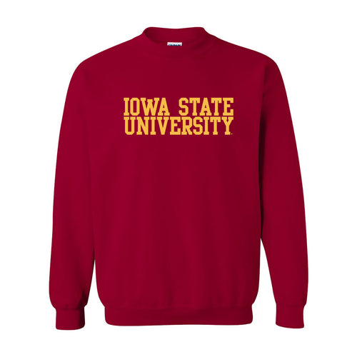 Iowa State University Cyclones Basic Block Crewneck Sweatshirt - Cardinal