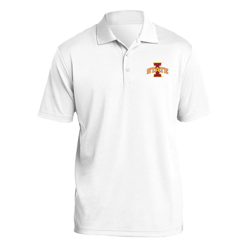Iowa State University Cyclones Logo Mens Polo - White