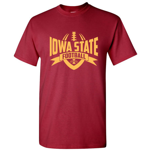 Iowa State University Cyclones Football Rush Short Sleeve T-Shirt - Cardinal