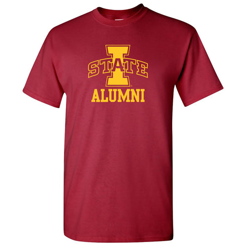 Iowa State University Cyclones Logo Alumni Short Sleeve T Shirt - Cardinal