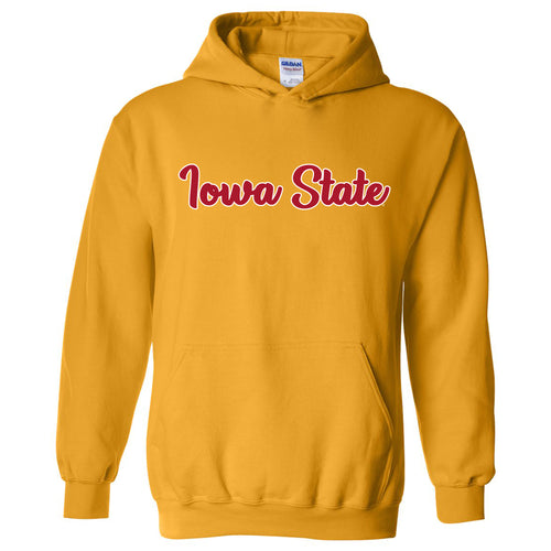 Iowa State University Cyclones Basic Script Heavy Blend Hoodie - Gold