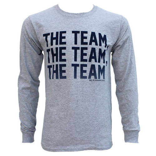Bo Schembechler The Team The Team The Team Champion Long Sleeve - Grey