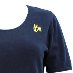 Bo Sig Porth Authority Wms Scoop Neck Sweater - Navy