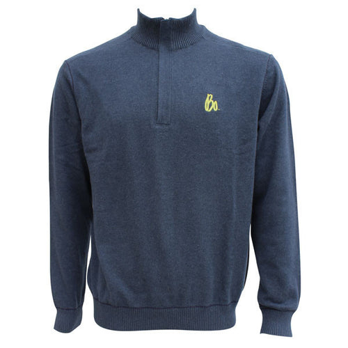 Bo Sig Cutter & Buck Broadview 1/2 Zip - Navy