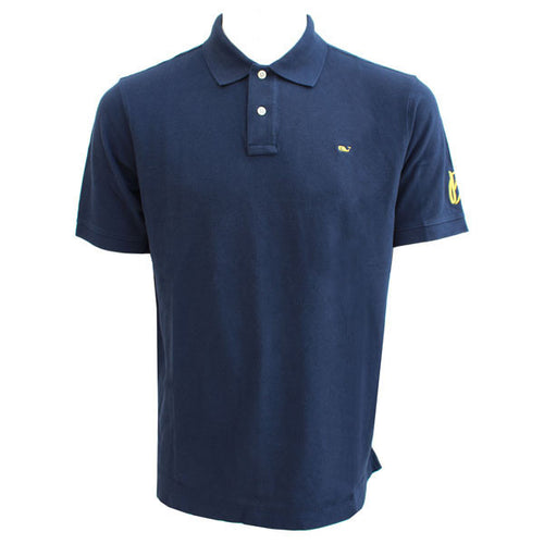 BO Sig Vineyard Vines Short Sleeve Classic Pique Polo - Navy