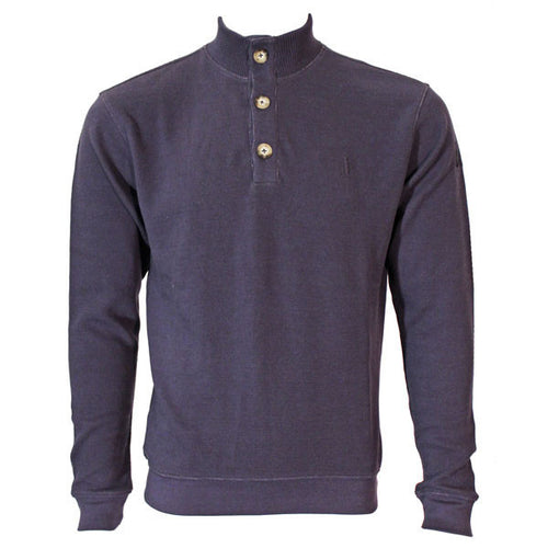 Bo Sig Johnnie-O Russell 1/4 Button Sweater - Twilight