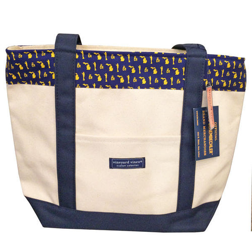 Bo Pattern Vineyard Vines Tote - Navy