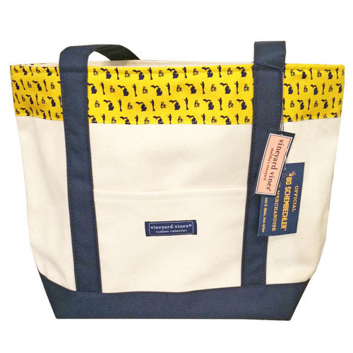 Bo Pattern Vineyard Vines Tote - Maize