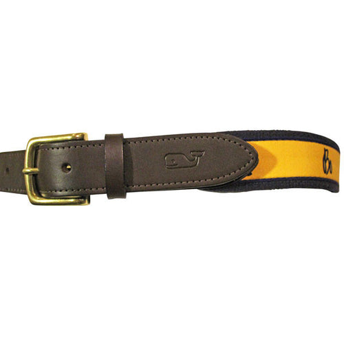 Bo Schembechler Signature/Silhouette Vineyard Vines Belt - Maize