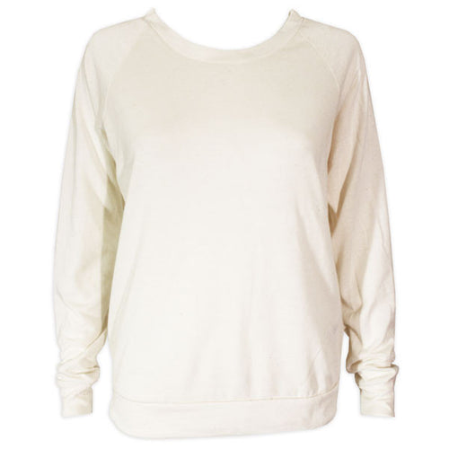 Bo Sig Ladies Alternative Apparel Slouchy Pullover Left Bicep - Eco Ivory