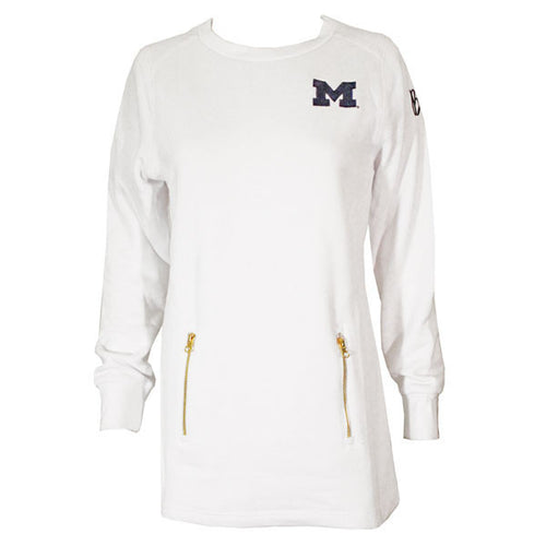 Bo Sig Charles River Womens Sweatshirt - White