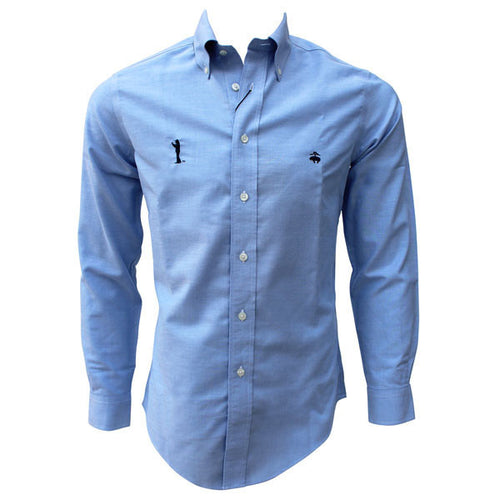 Bo Sig Brooks Brothers Regent Fit Oxford Sport Shirt - Light Blue
