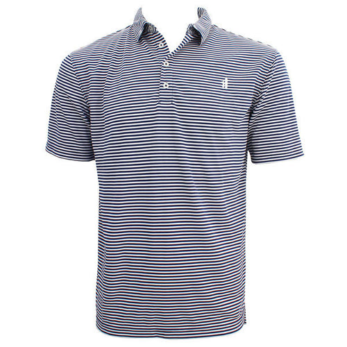 Bo Sig Johnnie-O Striped Polo - Navy/White