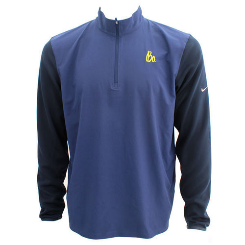 Bo Schembechler Signature Nike Quarter Zip - Navy/Black