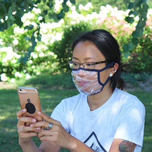 Clear Face Mask - Unlocks Your Phone