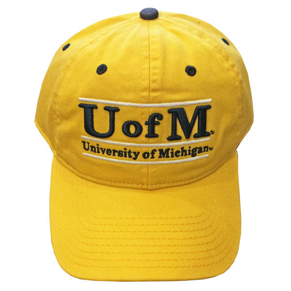 UM The Game Adj Hat - Maize