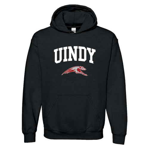 University of Indianapolis Greyhounds Arch Logo Cotton Hoodie - Black