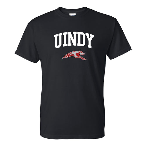 University of Indianapolis Greyhounds Arch Logo Cotton T-Shirt - Black