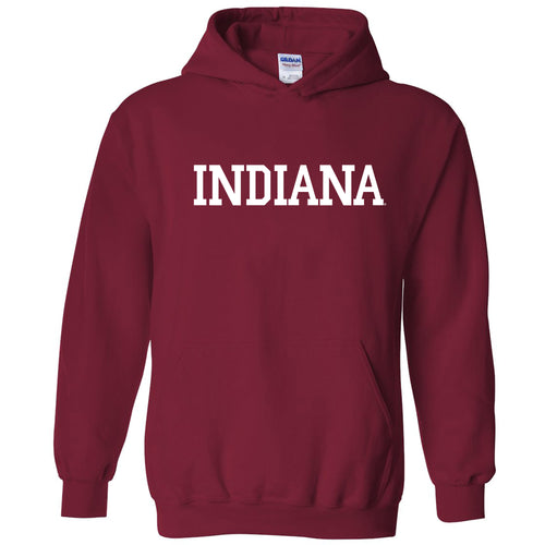 Indiana University Hoosiers Basic Block Hoodie - Cardinal