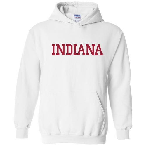 Indiana University Hoosiers Basic Block Hoodie - White