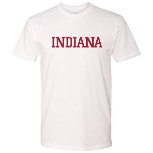 Indiana University Hoosiers Basic Block Next Level Tee - White