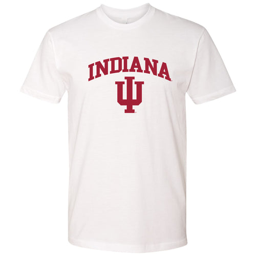 Indiana University Hoosiers Arch Logo Next Level Short Sleeve T-Shirt - White