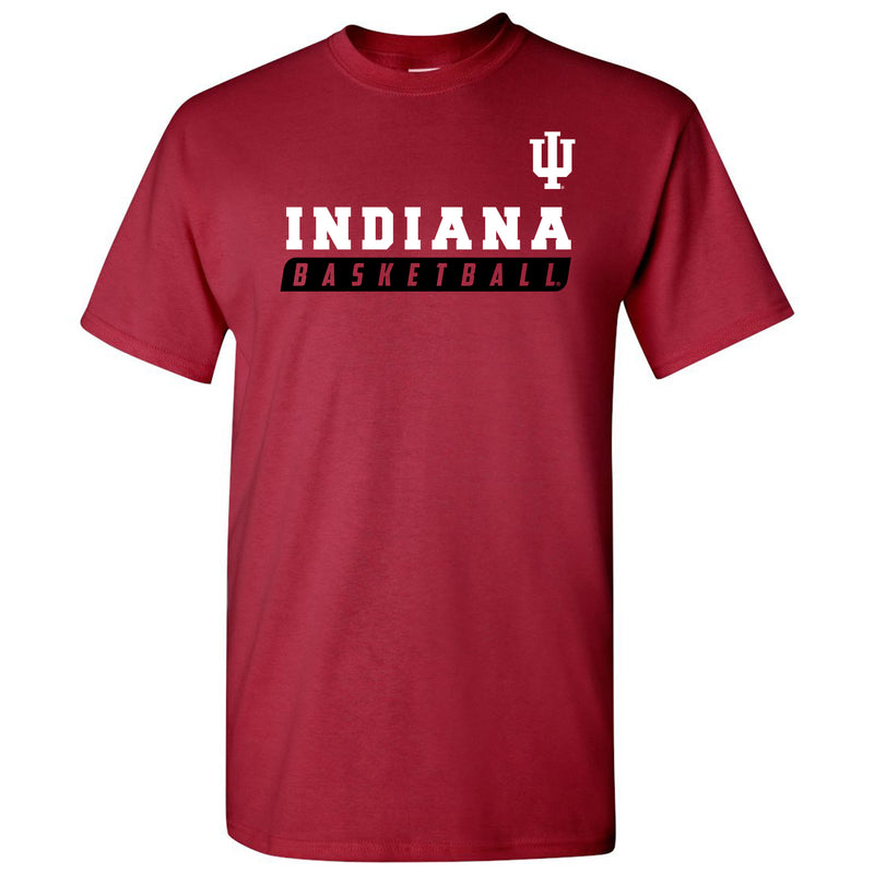 Indiana Hoosiers Basketball Slant T-Shirt - Court, College, University - Cardinal
