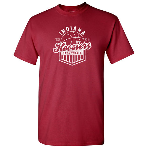 Indiana Hoosiers Basketball Shield T-Shirt - Court, College, University - Cardinal