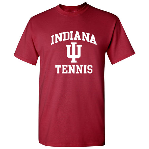 Indiana University Hoosiers Arch Logo Tennis Short Sleeve T Shirt - Cardinal