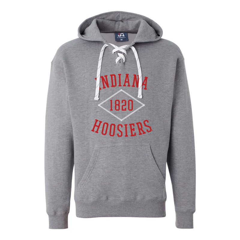 Indiana Stitch Arch Lace Up Hoodie - Oxford