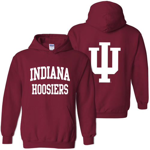 Indiana Front Back Print Hoodie - Cardinal