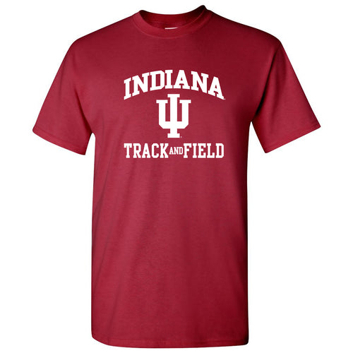 Indiana University Hoosiers Arch Logo Track & Field T Shirt - Cardinal