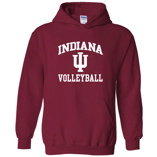 Indiana University Hoosiers Arch Logo Volleyball Hoodie - Cardinal