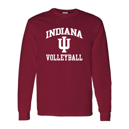 Indiana University Hoosiers Arch Logo Volleyball Long Sleeve T Shirt - Cardinal