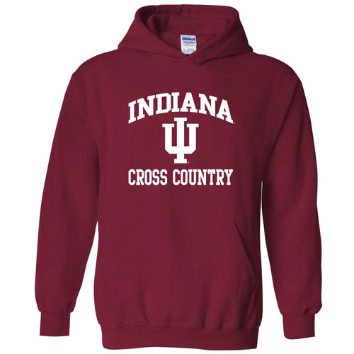 Indiana University Hoosiers Arch Logo Cross Country Hoodie - Cardinal