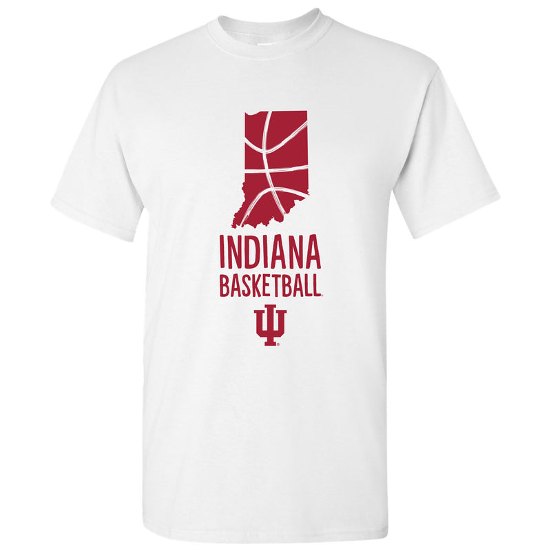 Indiana University Hoosiers Basketball Brush State T Shirt - White
