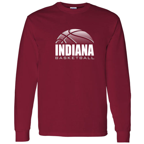 Indiana University Hoosiers Basketball Shadow Long Sleeve T-Shirt - Cardinal