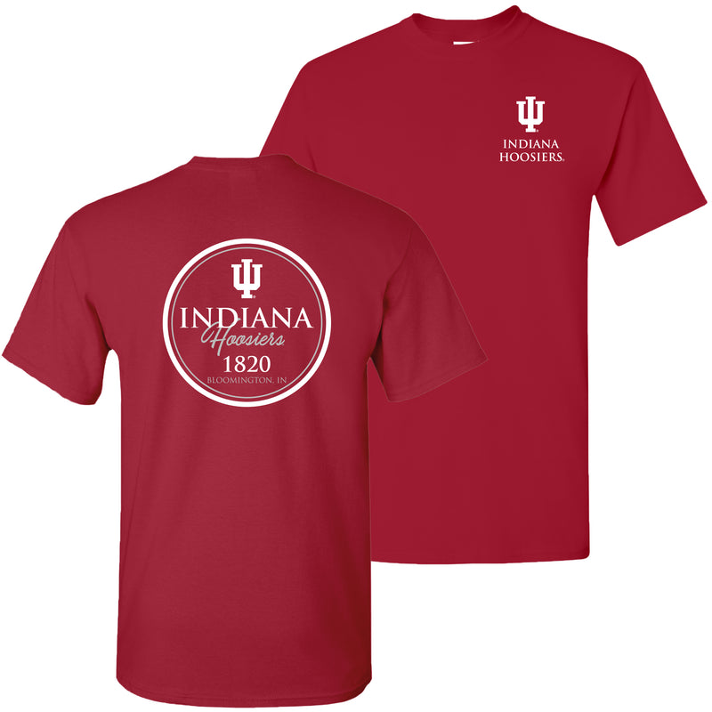 Indiana University Hoosiers Classic Circle T Shirt - Cardinal