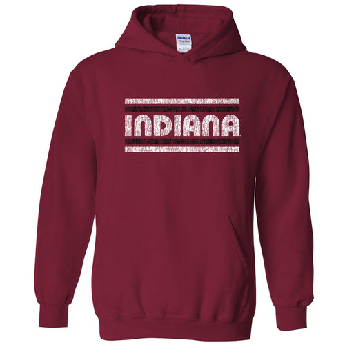 Indiana University Hoosiers Retro Underline Hoodie - Cardinal